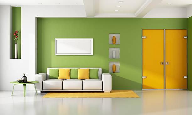 fronte parete colorata