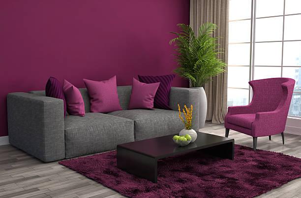 abbinamento cuscini con colore in stile pretty pink