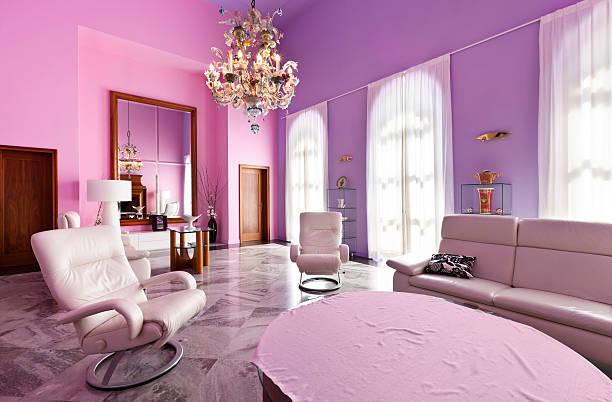 parete pretty pink per il soggiorno di casa - www ... - Soggiorno Fucsia