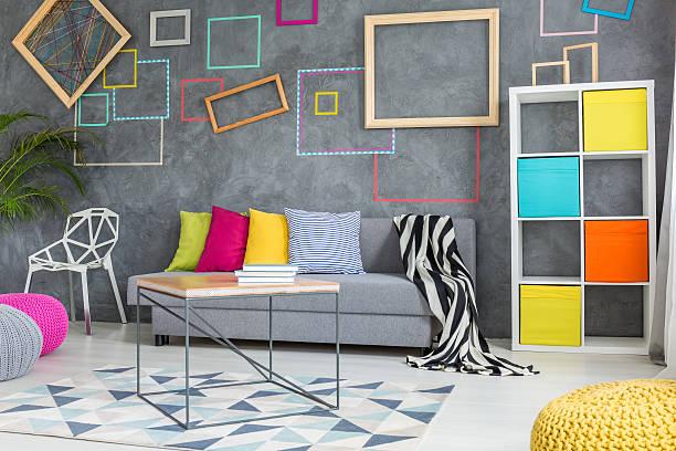 parete multicolore