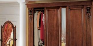 armadio marrone