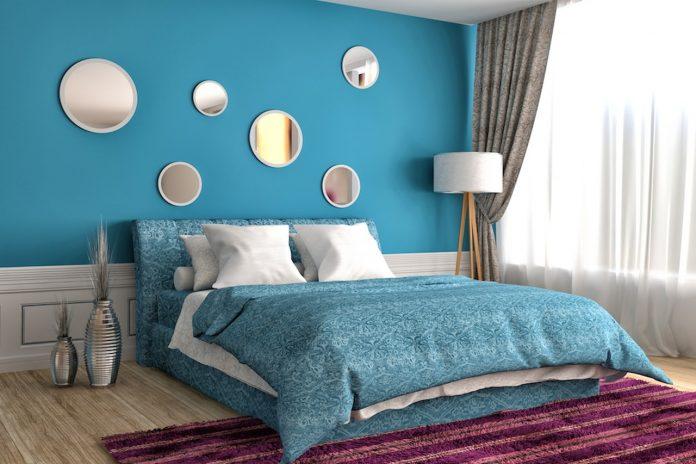 Azzurro e verde per le pareti della camera matrimoniale ...