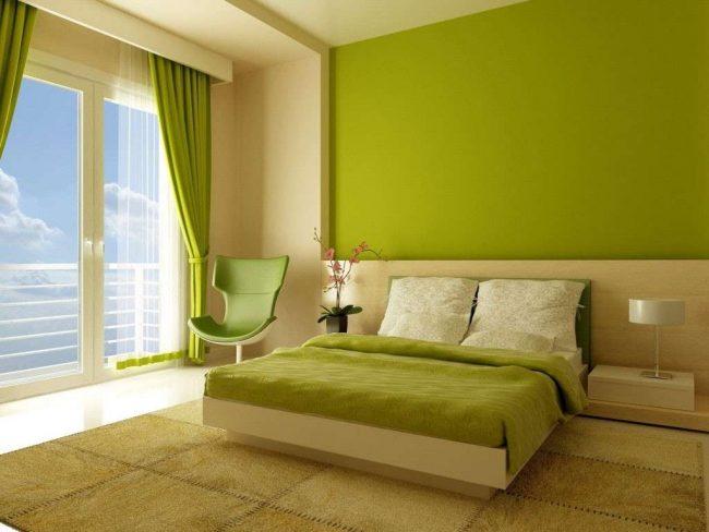 Azzurro e verde per le pareti della camera matrimoniale - www ...