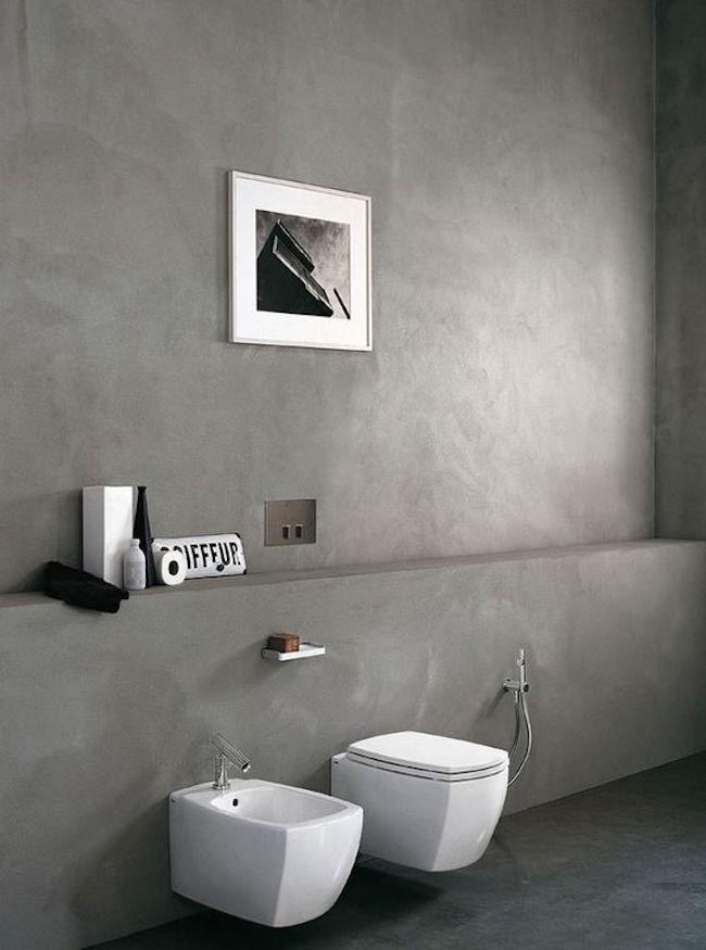 Effetto cemento pareti tendenza design - Bagno cemento spatolato ...