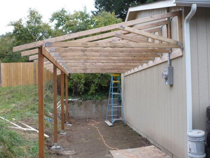 costruzione di una tettoia