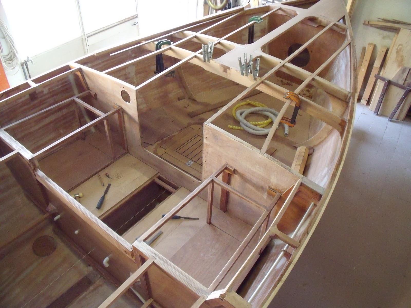 struttura di una barca realizzata con il compensato marino