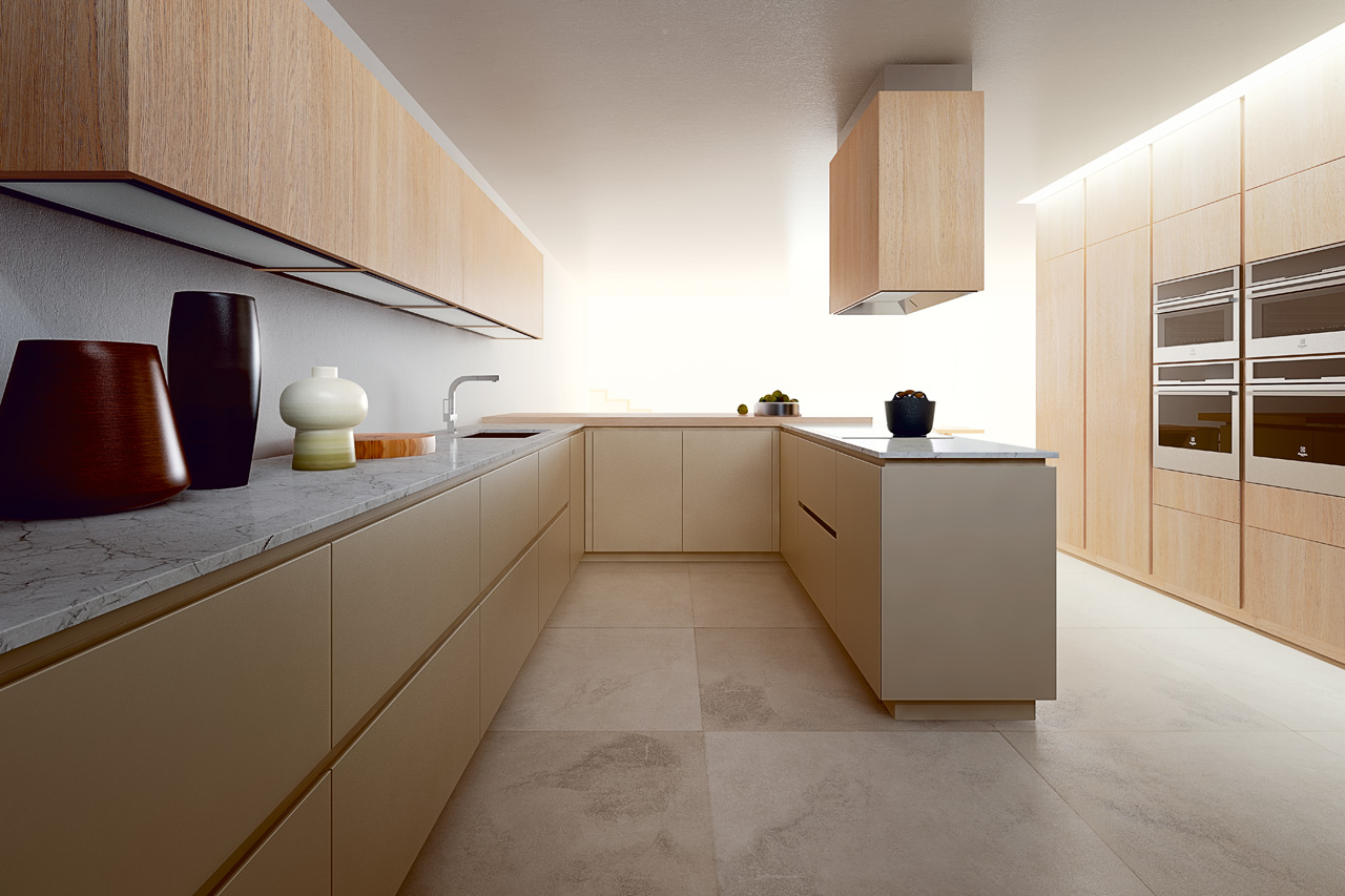 Cucina realizzata in legno MDF